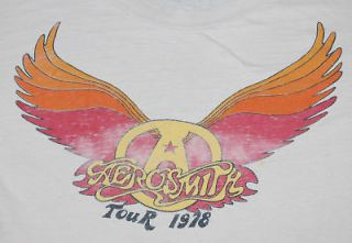 VINTAGE AEROSMITH TOUR T  SHIRT 1978 XL ORIGINAL