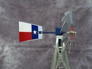 17 Mini Ornamental Windmill   Texas Flag Galvanized