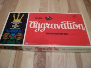 Aggravation Deluxe Board Game 1970 Edition Good Condition Complete