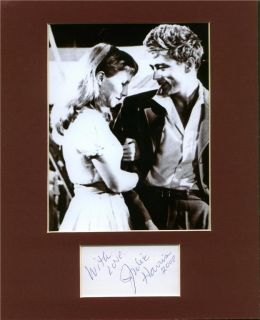 JULIE HARRIS HAND SIGNED MATTED DISPLAY W/JAMES DEAN Autographed