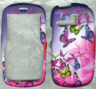 rose butterfly snap on case Samsung r355 R355c Straight Talk Phone