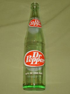 Dr Pepper Oval Emblem Vintage Glass Soda Pop Bottle Return for Deposit