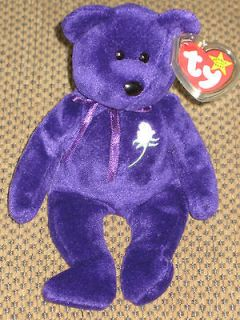 Beanie Baby Original Babies Princess Diana Bear Retired Tag Protector