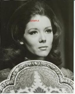 The Avengers Diana Rigg Emma Peel Close Up Behind Chair Black White