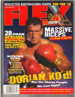 Fitness Magazine Dorian Yates /Denise Masino w/poster 7 98