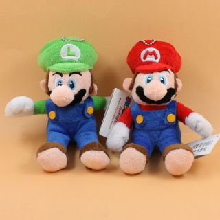 super mario bros dry bones diddy kong 6 soft plush doll toy lot 2