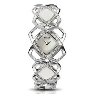 Seksy Sekonda Hidden Hearts Crystal Set Pearl Dial Watch 4422 Rp £80