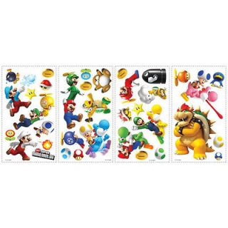 York Super Nintendo Mario Wii Peel & Stick Wall Decal 35 pieces 006739