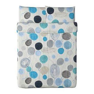 Ikea Eivor Farga Modern Duvet Cover Full / Queen Turquoise blue