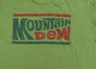 MOUNTAIN DEW T Shirt SIZE L Large Logo Soda Pop Green Cola