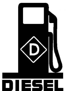 DIESEL Fuel Pump LOGO * Vinyl Decal Sticker * Fumes Powerstroke