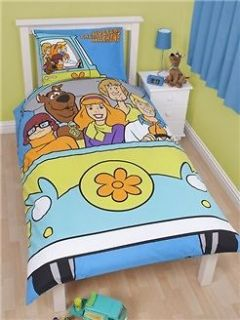 SCOOBY DOO SINGLE bed REVERSIBLE QUILT DOONA COVER SET