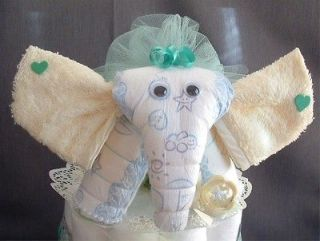 Green Yellow ELEPHANT Diaper Cake TOPPER Baby Shower Decorations