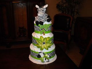 Zebra Themed Diaper Cake (7180)