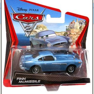 DISNEY PIXAR CARS 2 FINN MCMISSILE SHORT CARD CHECK OUT LANE SERIES