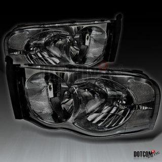 05 DODGE RAM 1500 2500 3500 HEADLIGHTS SMOKE LAMPS (Fits 2003 Dodge