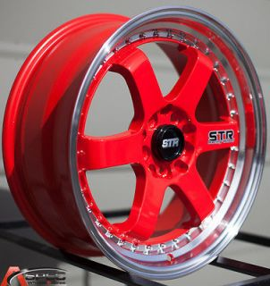 510 5x100 RED WHEEL FIT SCION FR S TC VW GTI VR6 GOLF NEON SRT JETTA