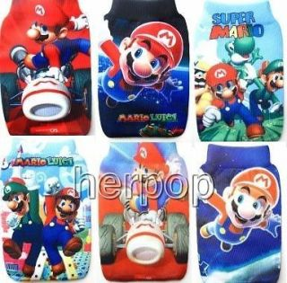 New Lot 50 pcs Super Mario mobile Phone  socks Case Bag Party gifts
