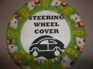 Newly listed STEERING WHEEL COVER GREEN HELLO KITTY CUTE