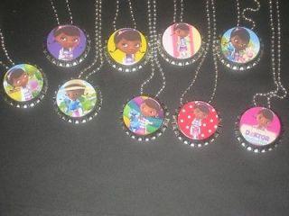 doc mcstuffins inspired party favors bottlecap ball chain necklace lot