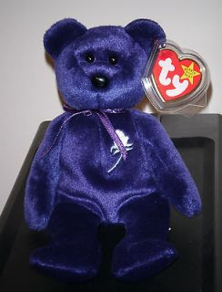 CT * Ty PRINCESS the (Diana) Bear 1997 Beanie Baby ~ Creased Tag