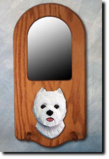 Terrier Portrait Mirror. Home Decor. Dog Wood Products & Gifts