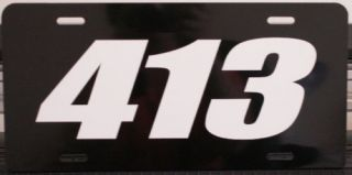 413 ENGINE SIZE LICENSE PLATE FITS DODGE PLYMOUTH MOPAR