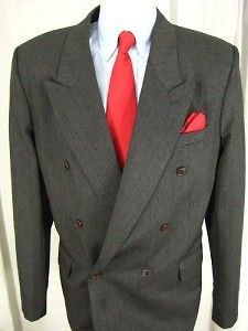 Mens Benilli double breaasted sport coat blazer 42L ( C