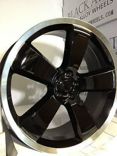 20 Inch Black Dodge Charger SRT 8 Factory OE Replica Wheels Magnum