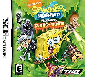 SPONGEBOB SQUAREPANTS GLOBS OF DOOM brand new video game Nintendo DS