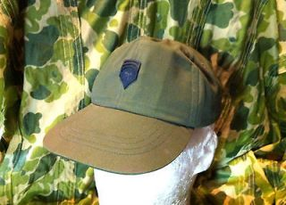 WAR DATED VIETNAM ERA US ARMY CAP WITH RANK   HAT OG 106 MASTER