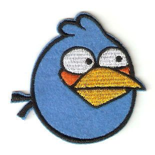 All set Angry birds embroidery labels stick logo Ironing/sewing