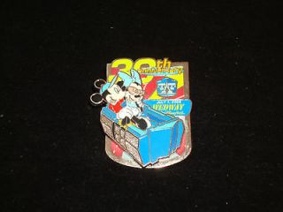 30th Anniversary Wedway People Mover Disney Pin Mickey Minnie LE 1000