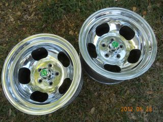 15 x 8 1/2 SLOT MAG WHEELS GASSER MAGS FORD DODGE MOPAR PLYMOUTH