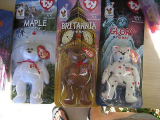 Set of 3 Ty Mini Beanie Babies NIP 1999 McDonald Corp Maple Glory Br