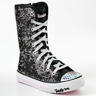 Skechers Twinkle Toes Bizzy Bunch High Top Sneakers   Little girls 11