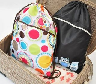 One CINCH SAC Tote backpack STORAGE TRAVEL DRAWSTRING BAG SHOE BAG