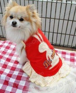 pet supplies dogs cute Rabbit printting Vest Dress Costumes Clothes