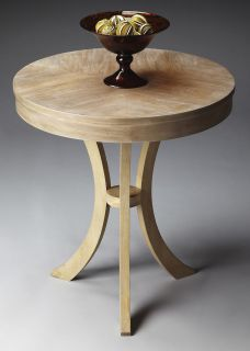 ACCENT TABLE   ROUND TABLE   DRIFTWOOD FINISH   FREE SHIPPING
