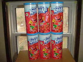 LOT OF 6 CANISTERS SUGAR FREE KOOL AID CHERRY  NEW/SEALED