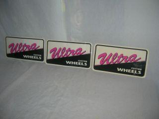 Vintage Ulta Custom Wheels Sticker Decal Chevy Ford Dodge Dually rims