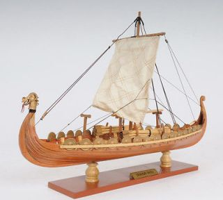 Drakkar Dragon Viking Ship Wooden Model Small 15 Built Sailboat
