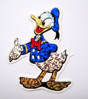Donald Duck Disney cartoon Scrapbook Bumper Bike Car ATV Foil Decal
