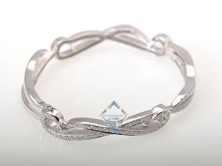 Doris Panos Elegant 18K White Gold Diamonds Bangle