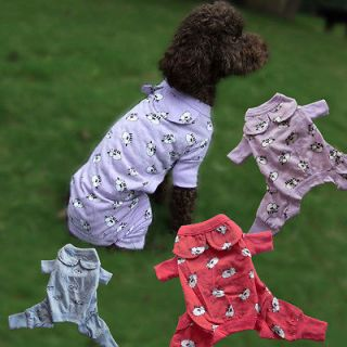 Red/ Blue/ Purple Cute Sheep Dog Pajamas Dog Clothes Pet Apparel XXS