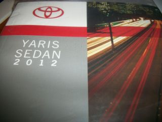 2012 12 TOYOTA YARIS SEDAN OWNERS MANUAL W/ FREE PRIORITY SHIPPING