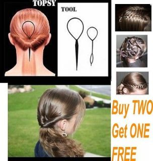 Topsy Tail Braid Hair Maker Ponytail Styling Tools Accessories