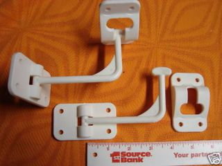 RV cargo trailer ENTRY DOOR CATCH holder 90º white NEW