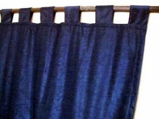 Navy Blue Velvet Curtains / Drapes / Panels with Tab To