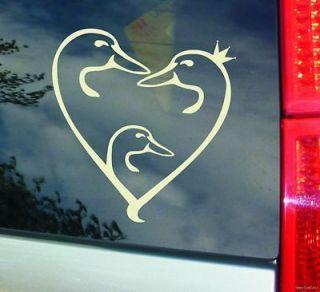 DUCK HUNTER UNLIMITED HEART SHAPE FAMILY w BOY 8 VINYL STICKER DECAL
